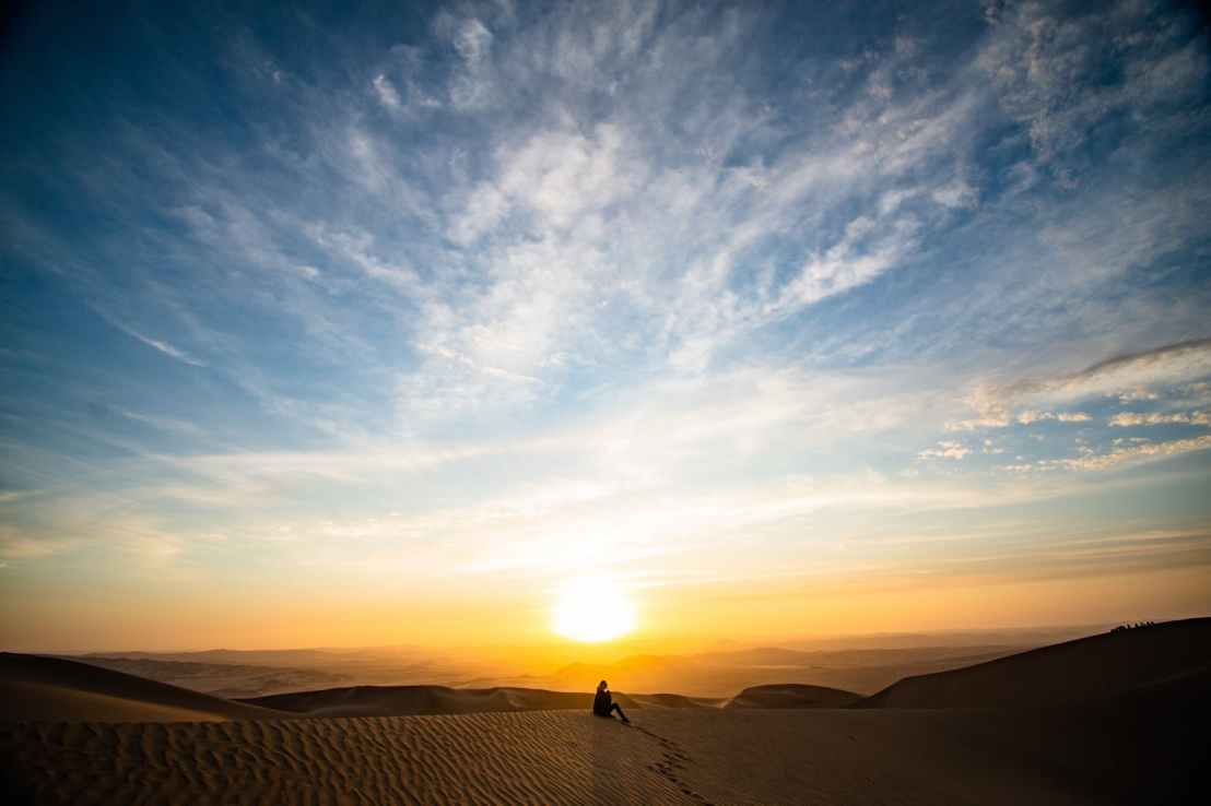 sand dunes during golden hour